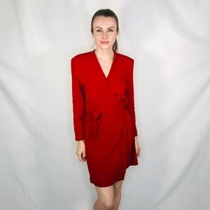 Vintage Red Chic Wrap Dress Mini Valentines Day 4